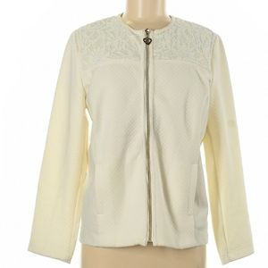 D&D Lifestyle Ivory Gold Zip Up Sweater